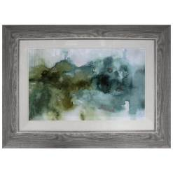 Abstract Teal Framed Picture