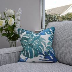 Aqua Leaf Cushion