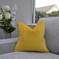Two Tone Mustard/ Grey Cushion
