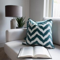Chevron Green Cushion