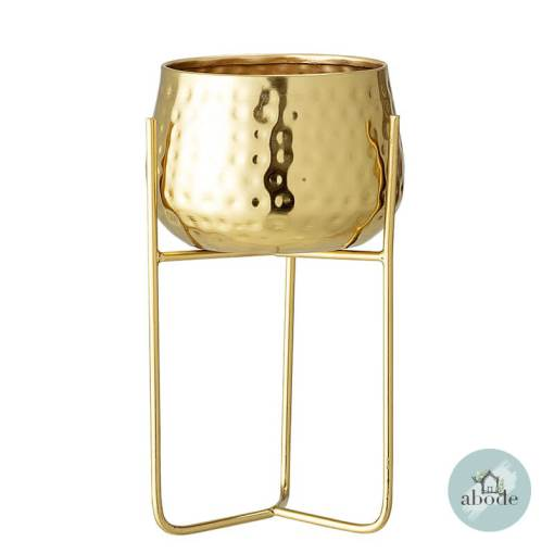 Gold Metal Flowerpot