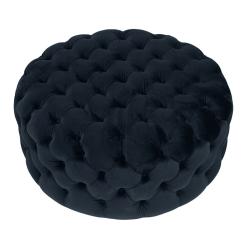 Black Velvet Footstool