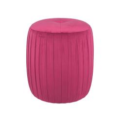 Raspberry Velvet Footstool