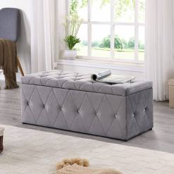 Grey & Diamond Blanket Box