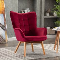 Kayla Crimson Fabric Chair