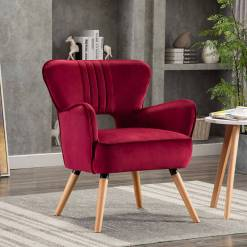 Ruby Crimson Occasional Chair