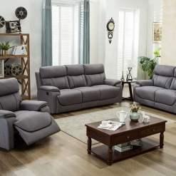 Violet Light Grey 3 Seater Sofa