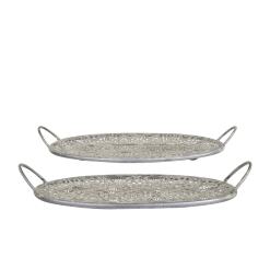 Zinc Set of 2 Trays