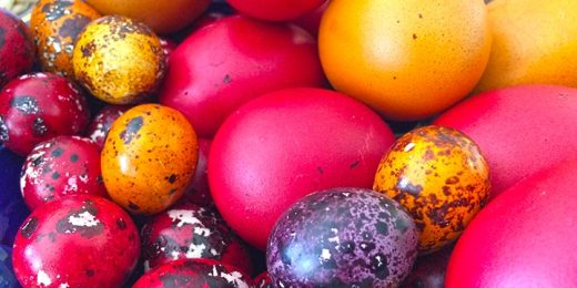 Easter painted eggs free stock image