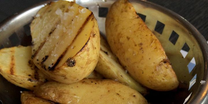 grilled potatoes free stock image