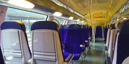 modern empty train interior free stock image