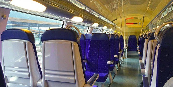 modern empty train interior free stock image