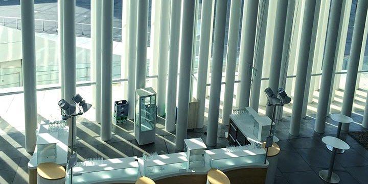 modern building interior free stock image