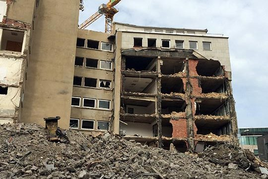free stock image of demolition site