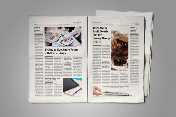 Old Style Newspaper Template   StockInDesign Old Style Newspaper Template