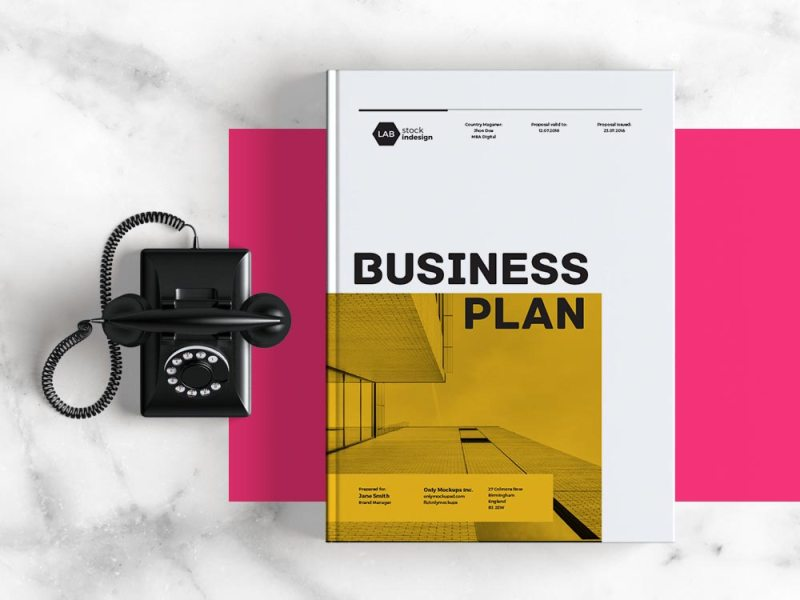 Business Plan Template   Adobe InDesign Template Business Plan Template