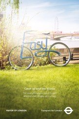 "Photo by Jason ""Giblin"" Hindley. From ""Jason 'Giblin' Hindley photographs bicycles that make a statement for Transport for London ad campaign."""