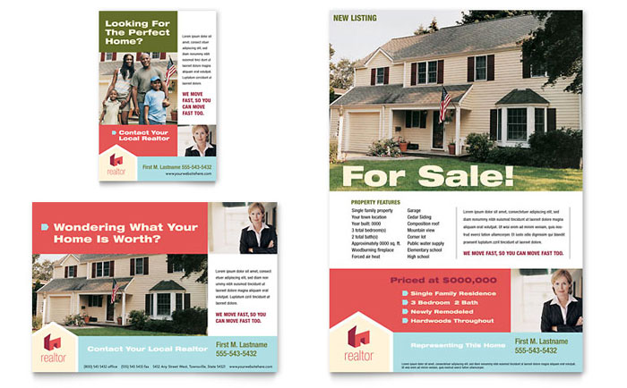 Home Real Estate Flyer Amp Ad Template Design