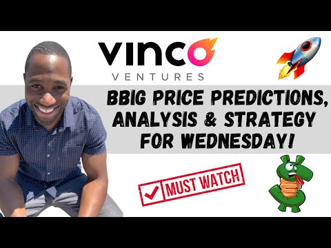 BBIG STOCK (Vinco Ventures)   Mark Predictions   Analysis   AND Approach For Wednesday!