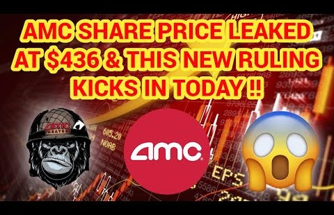 (AMC) REAL SHARE PRICE LEAKED AT $436??? MAJOR RULING JUST KICKED IN TODAY!