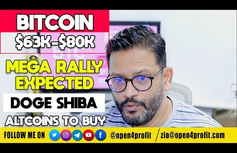 Bitcoin Preparing for Mega Rally $63k-$80k. Altcoins Dogecoin Shiba Inu Substitute Setup with Targets