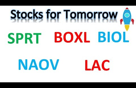 Shares for Friday 🔥 #SPRT #BOXL #NAOV #BIOL #LAC 🔥 Technical analysis
