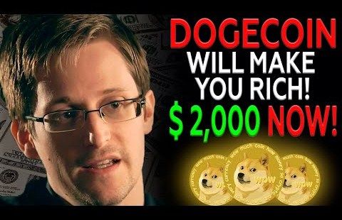 Edward Snowden Finds When DOGECOIN Will Be $2,000 I Dogecoin Tag Prediction