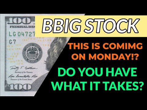 BBIG STOCK ANALYSIS! – BIG THINGS COULD BE COMING NEXT WEEK!? – ARE YOU REDY FOR THIS…!?