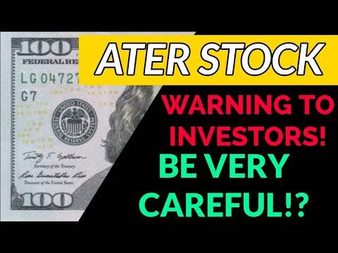ATER STOCK IMPORTANT UPDATE! – WHAT COMES NEXT FOR ATER TODAY AFTER ANOTHER BIG DROP TODAY?