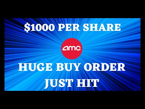 AMC STOCK | SHARE THIS MESSAGE WITH ALL APES HUGE BUY ORDER JUST HIT!!