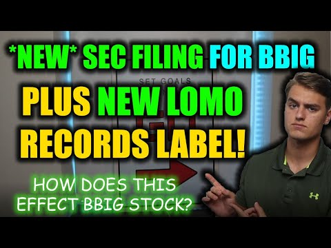 VERY IMPORTANT BBIG STOCK UPDATE! *NEW* BBIG SEC FILING + LOMO RECORD LABEL! BBIG Inventory Evaluation!