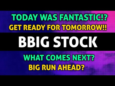 BBIG STOCK INSANE UPDATE!! – TODAY WAS PERFECT! – WHAT CAN WE EXPECT TOMORROW!? *BE PREPARED!*🚀