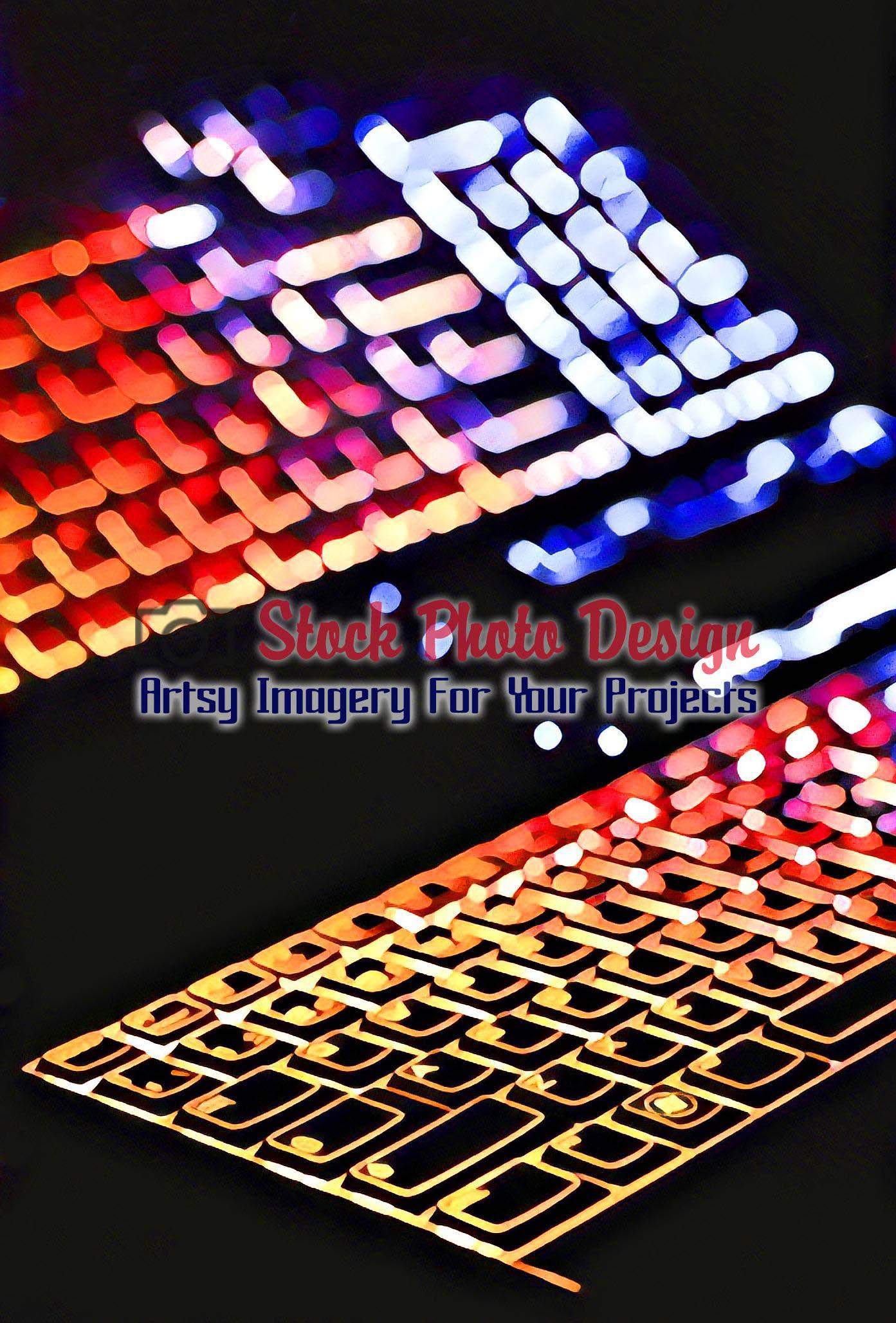 Colorful Illuminated Keyboard with Reflection