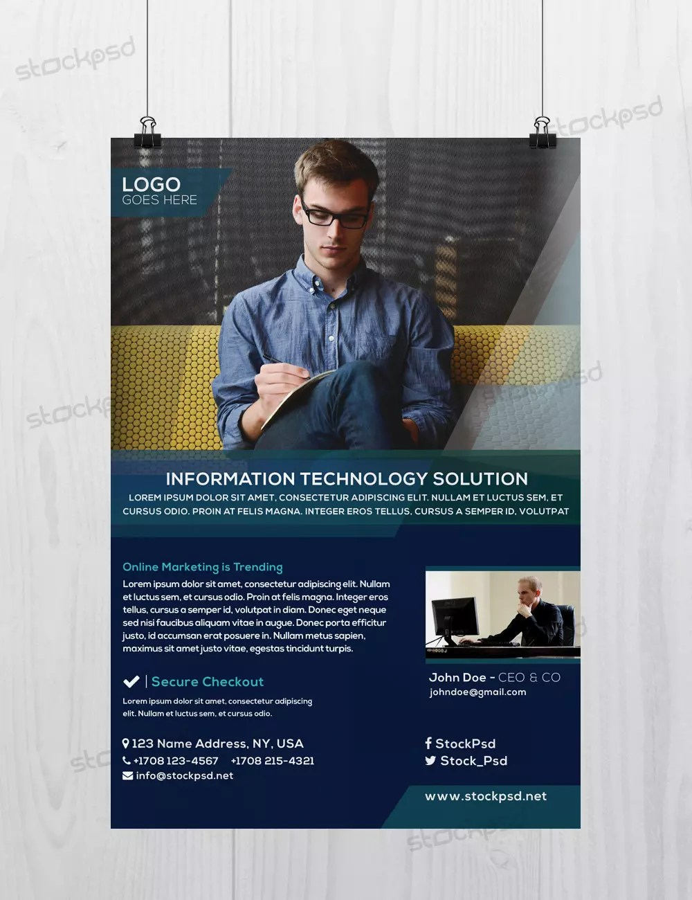 Business flyer vol4 download freebie psd flyer template business wajeb Choice Image