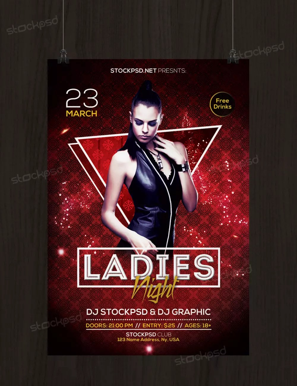 Ladies Night 2017 - Download Free PSD Flyer Template