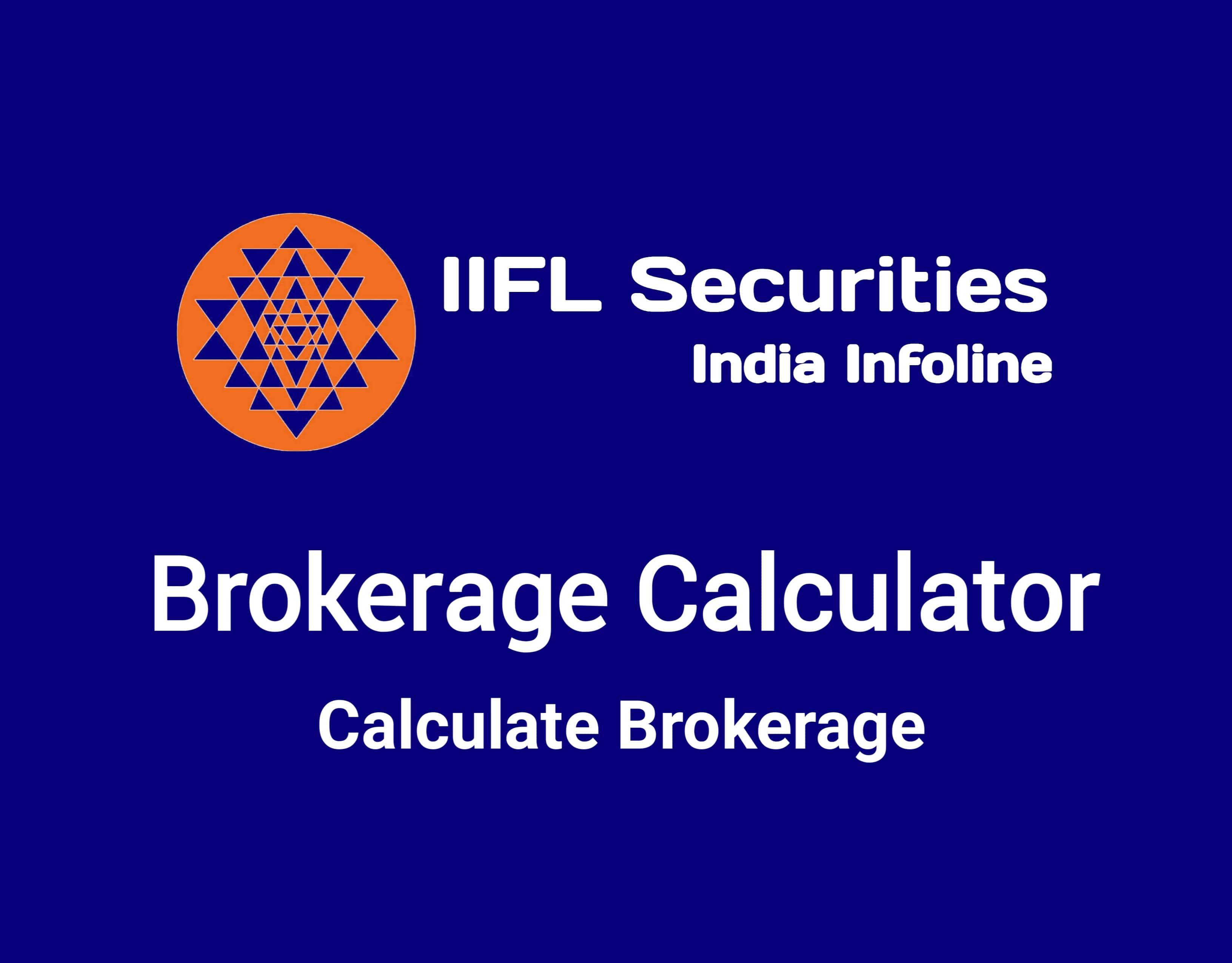 IIFL Brokerage Calculator