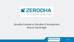 Zerodha Console