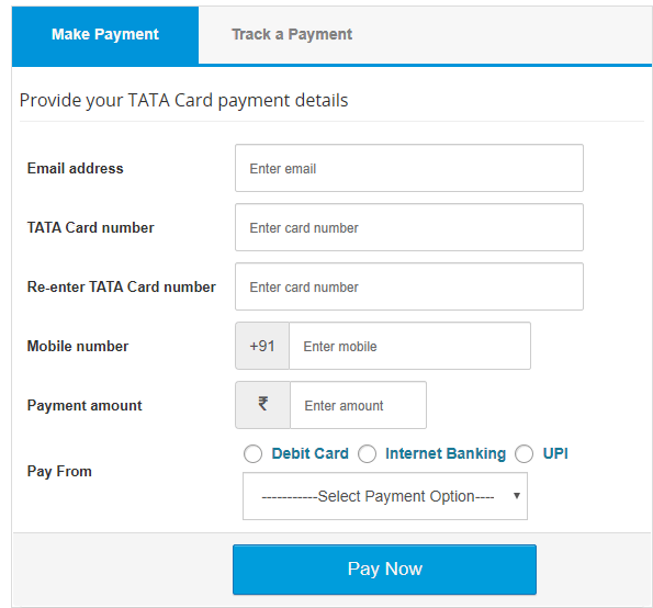 Tata Credit Card Payment