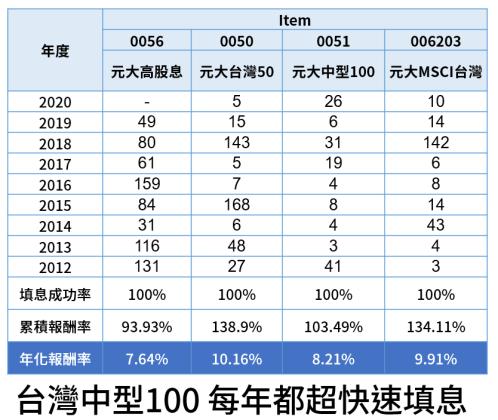 0051 台灣中型100