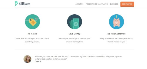 Saving money on cable bill with billfixers