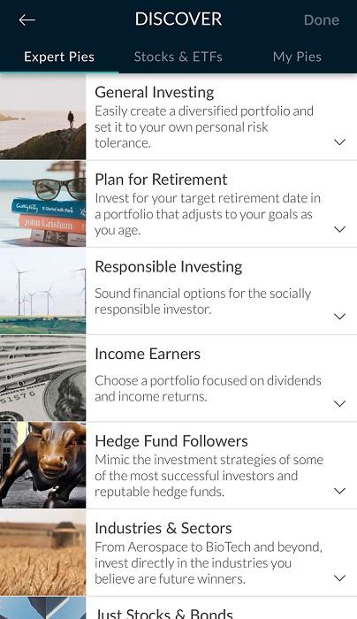 M1 Finance hedge fund pie