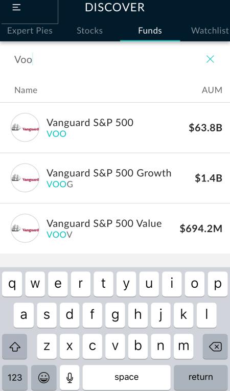 M1 Finance best Roboadvisor Vanguard VOO