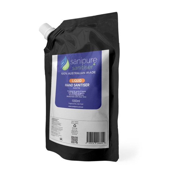 Sanipure Hand Sanitiser Gel & Liquid Refill Pouches - 6 x 1L