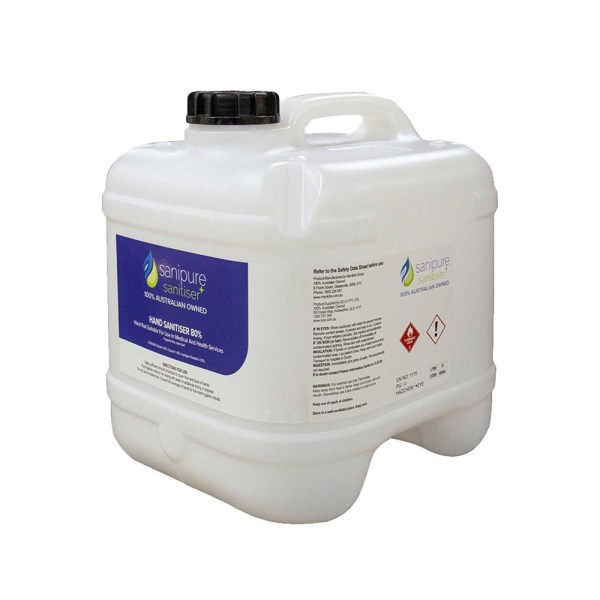 Sanipure Hand Sanitiser Gel & Liquid 15L