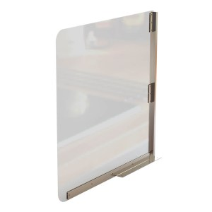 Sneeze Guard Acrylic Divider Screen - Side View