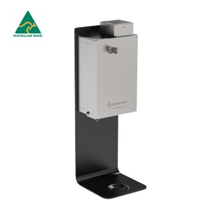 Stoddart Standard Security Hand Sanitiser Dispenser - Black Wall Mount