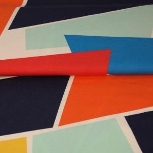 Stenzo Jersey Stoff rot,orange,blau