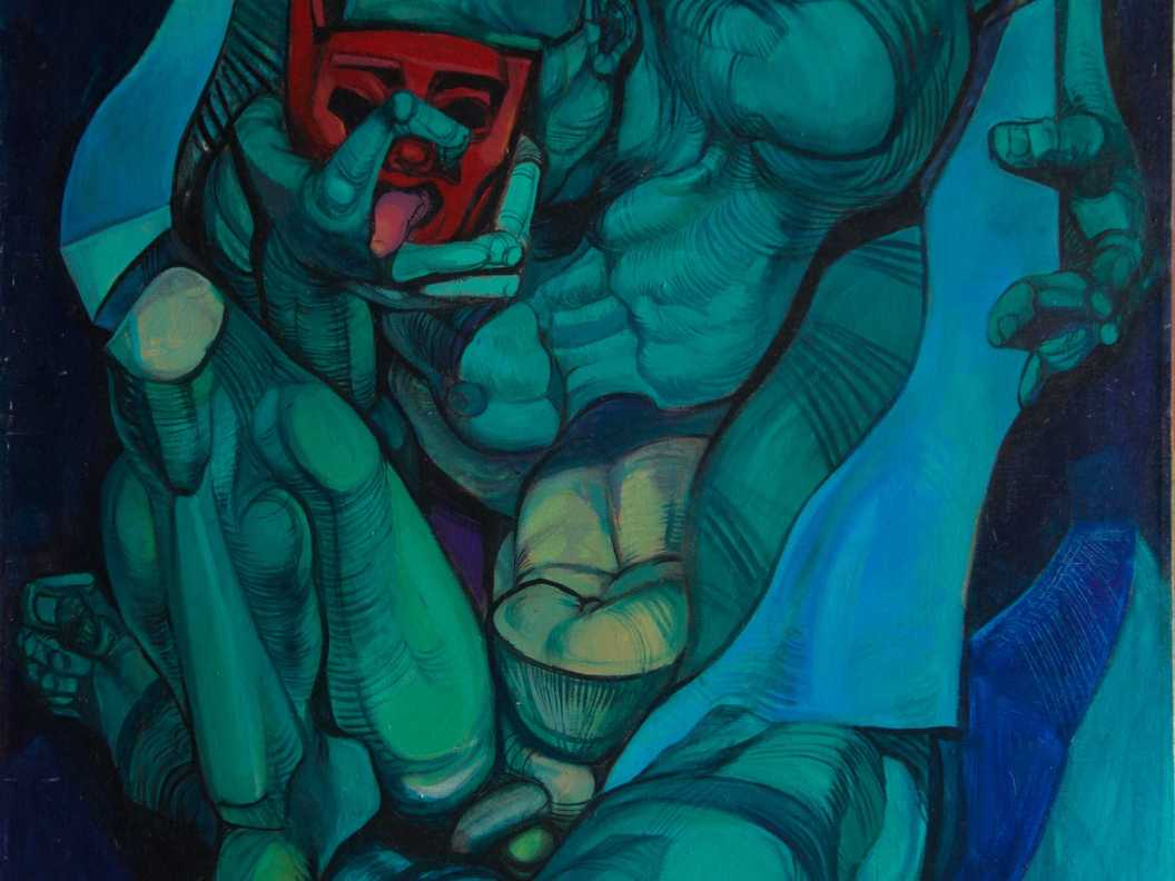 Green man - acrylic on canvas, 2002