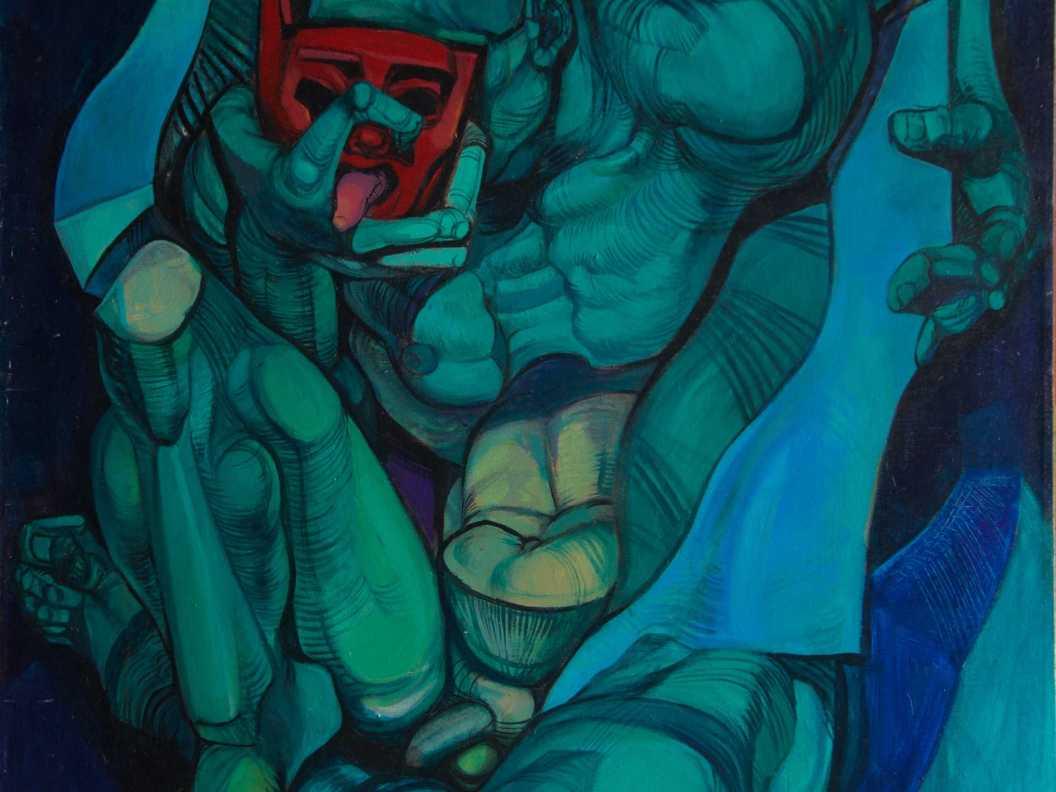 Green man - acrylic on canvas, 2002