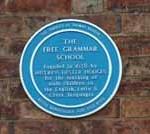 Blue Plaque for The Free Grammar School